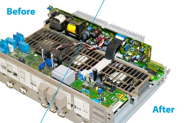Cleaning industrial electronics